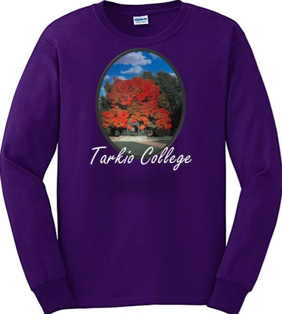 Purple long-sleeved T